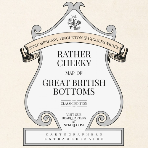 ST&G's Rather Cheeky Map of Great British Bottoms