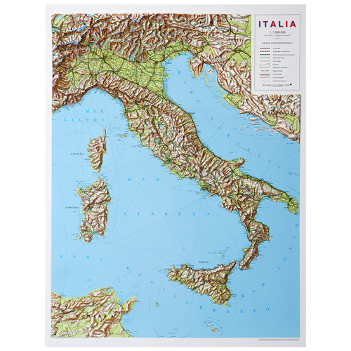 Dorrigo 3D map of Italy