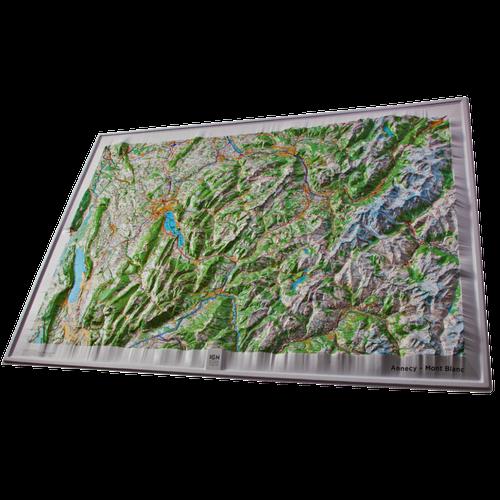 Dorrigo 3D map of Mont Blanc and Annecy