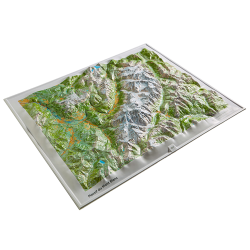 Dorrigo 3D map of Mont Blanc Massif