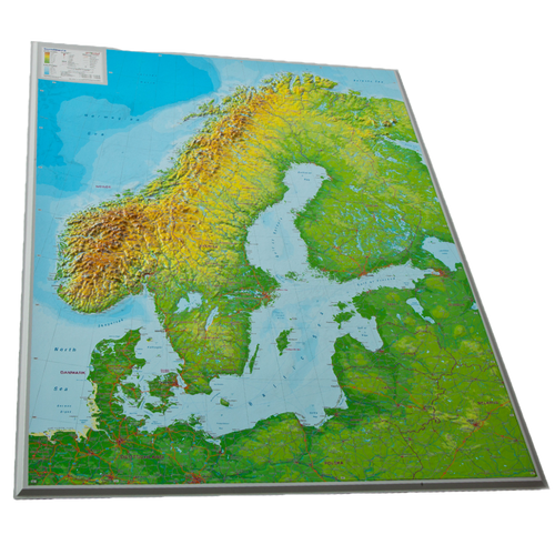 Dorrigo 3D map of Scandinavia