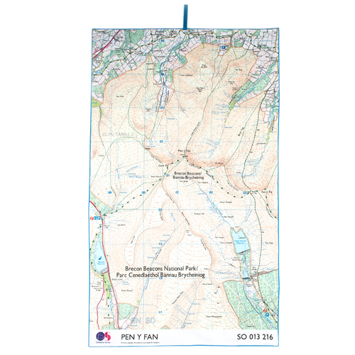 OS Brecon Beacons Giant Trek Towel