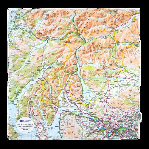 OS Waterproof Picnic Rug - Glasgow, Loch Lomond & Firth of Clyde