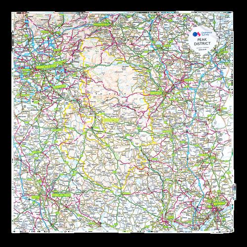 OS Waterproof Picnic Rug - Peak District, Manchester, Sheffield & Stoke