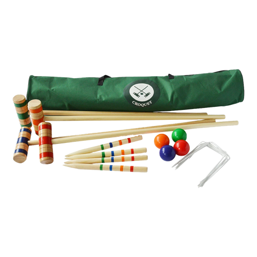 Traditional full size family croquet set