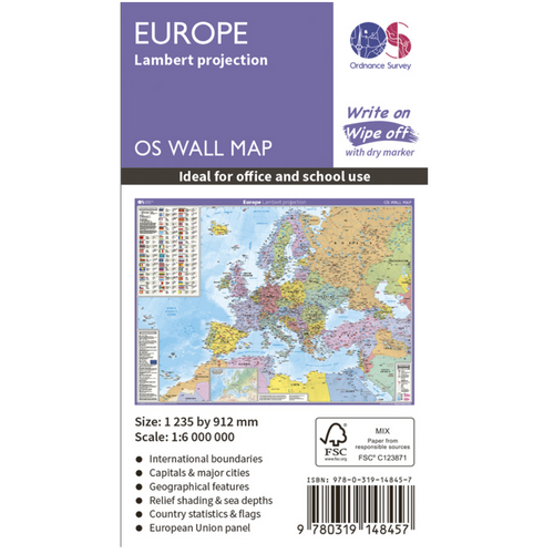 Europe - wall map