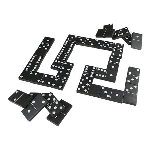 Jumbo Black and White Dominoes