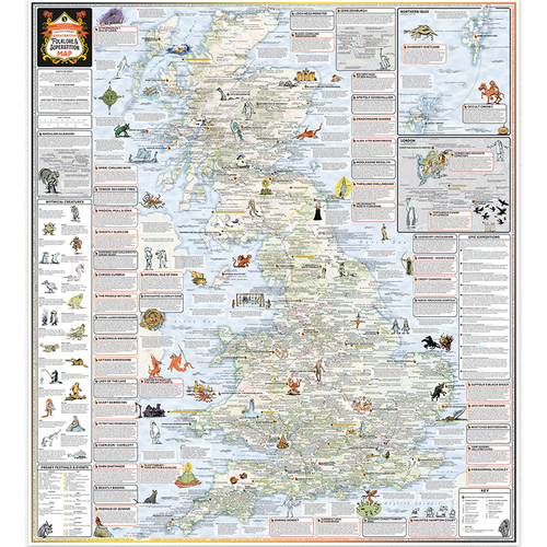 ST&G's Craftily Conjured Folklore & Superstition Map