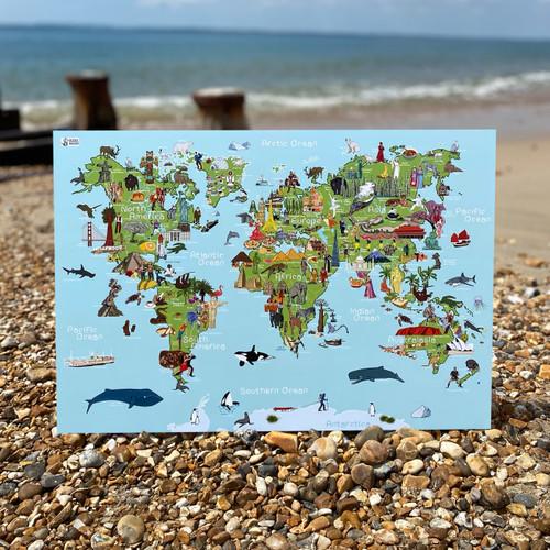 Whole Wide World Map - AmazingWorld Kids' Maps