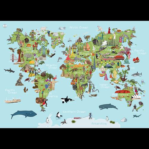 Whole Wide World AmazingWorld Kids' Map