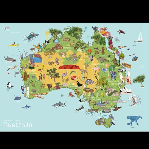 Australia AmazingWorld Kids' Map