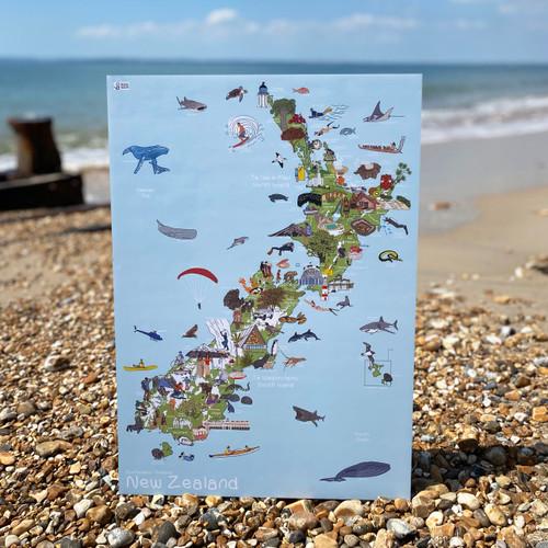 New Zealand - AmazingWorld Kids' Maps