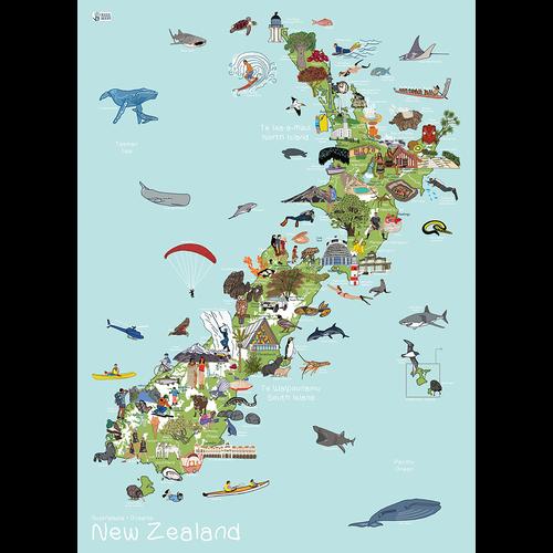 New Zealand AmazingWorld Kids' Map