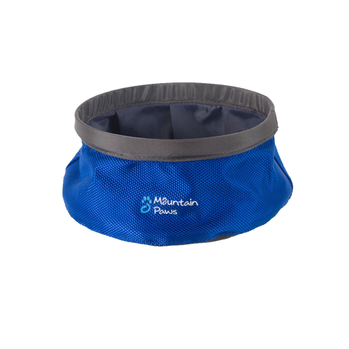 Mountain Paws portable dog water bowl: small blue