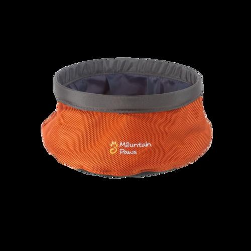 Mountain Paws portable dog water bowl: small orange
