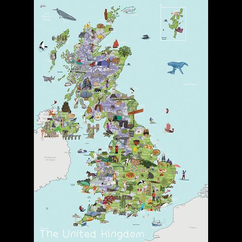 UK Map - AmazingWorld Kids' Maps