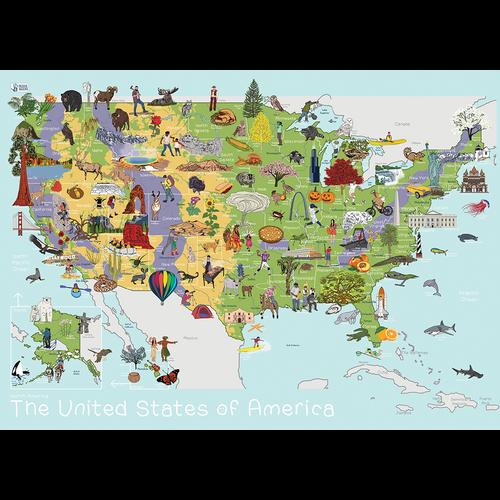 USA Map - AmazingWorld Kids' Maps