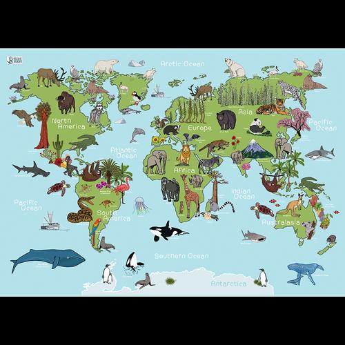 Large Plastic Animal World Placemat