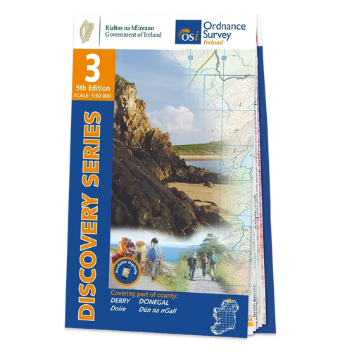 Map of Counties Derry and Donegal: OSI Discovery 03