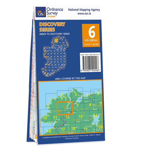 Map of Counties Donegal and Tyrone: OSI Discovery 06