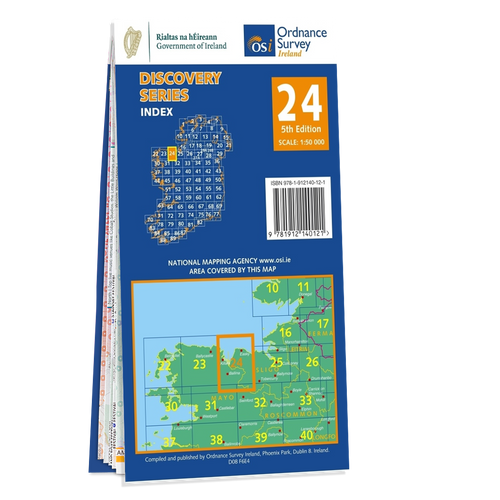 Map of County Sligo and Mayo: OSI Discovery 24