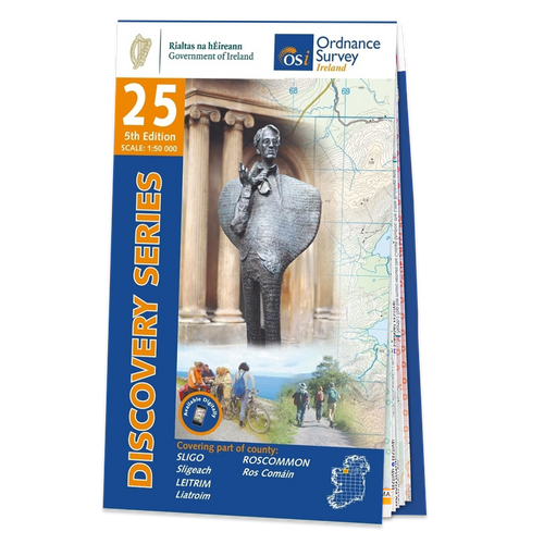 Map of Counties Sligo, Roscommon and Leitrim: OSI Discovery 25