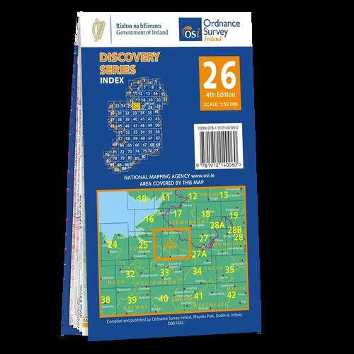 Map of Counties Cavan, Leitrim, Sligo, Fermanagh and Roscommon: OSI Discovery 26