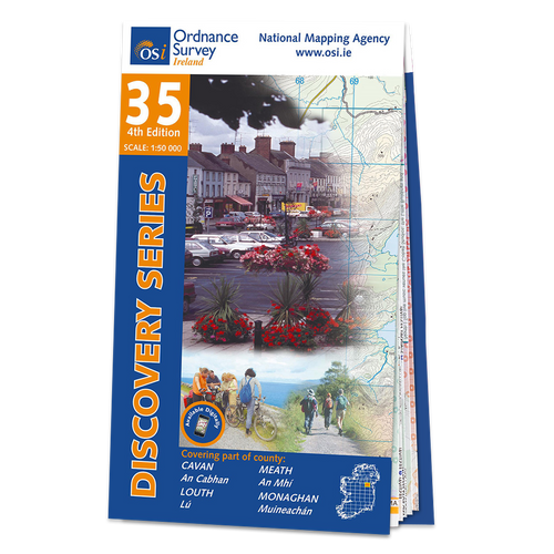 Map of County Cavan,Louth, Meath and Monaghan: OSI Discovery 35