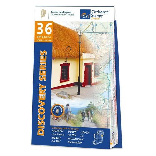 Map of County Armagh, Down, Louth, Meath and Monaghan: OSI Discovery 36