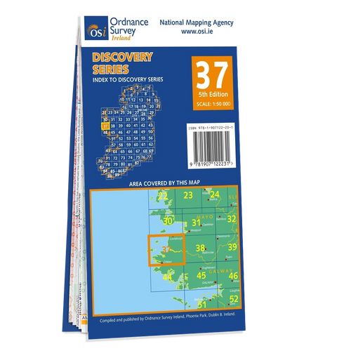 Map of County Mayo and Galway: OSI Discovery 37