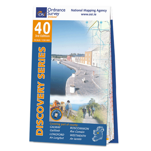 Map of County Galway, Roscommon Longford and Westmeath: OSI Discovery 40