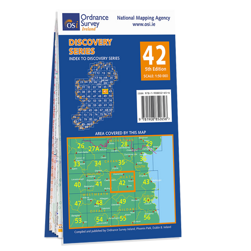 Map of County Westmeath and Meath: OSI Discovery 42