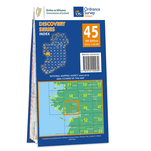 Map of County Galway: OSI Discovery 45