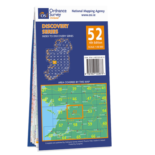 Map of County Clare and Galway: OSI Discovery 52