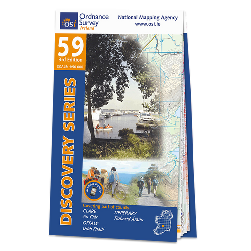 Map of County Clare, Offaly and Tipperary: OSI Discovery 59