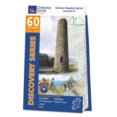 Map of County Kilkenny, Laois and Tipperary: OSI Discovery 60