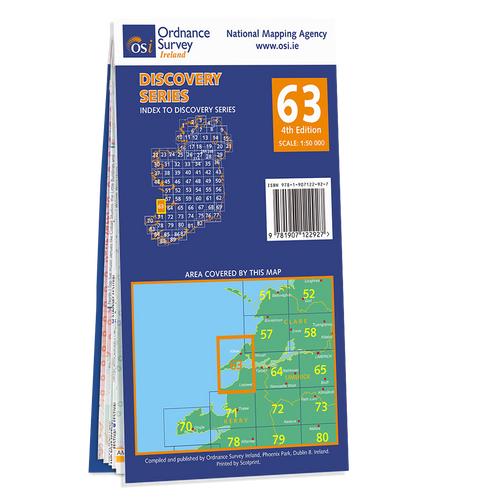 Map of County Clare and Kerry: OSI Discovery 63