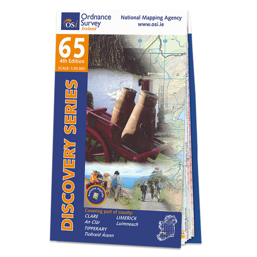 Map of County Clare, Limerick and Tipperary: OSI Discovery 65