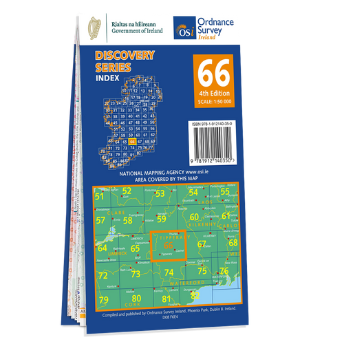 Map of County Limerick and Tipperary: OSI Discovery 66