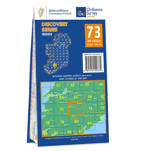Map of County Cork and Limerick: OSI Discovery 73