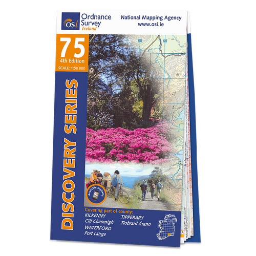 Map of County Kilkenny, Tipperary and Waterford: OSI Discovery 75