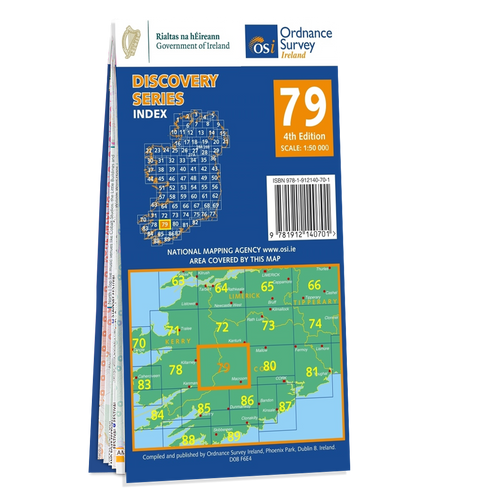 Map of County Cork and Kerry: OSI Discovery 79