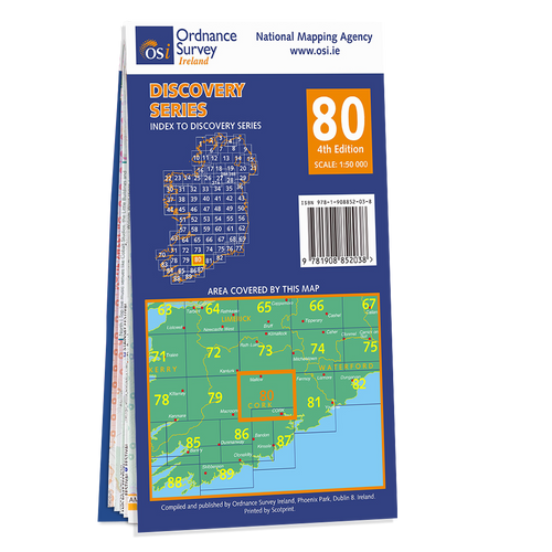 Map of County Cork: OSI Discovery 80