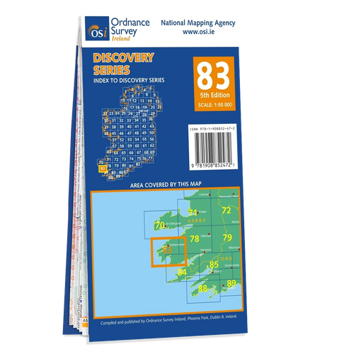 Map of County Cork and Kerry: OSI Discovery 83