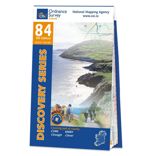 Map of County Cork and Kerry: OSI Discovery 84