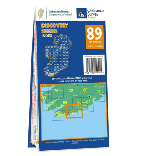 Map of County Cork: OSI Discovery 89