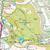 Map of Dorking, Box Hill & Reigate