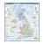 United Kingdom - administrative boundaries wall map