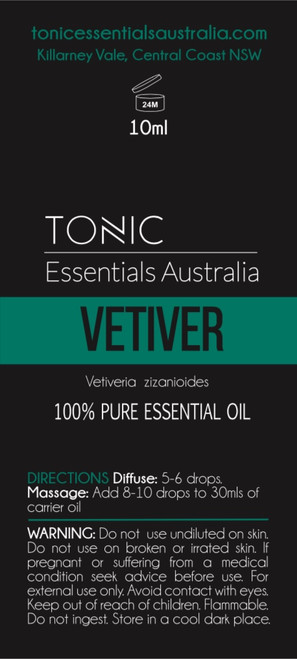 Vetiver 100% Pure Essential Oil 10ml