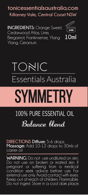 Symmetry Balance Blend 100% Pure Essential Oils 10ml